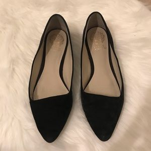 Vince Camuto Allera Point Toe Flats Black/Gold